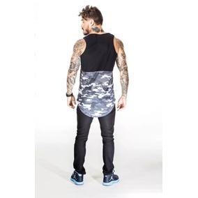 Regata Long Line Camuflada - Camisetas e Blusas no Mercado Livre Brasil 220e73d73a3