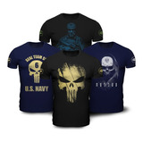 Kit 4 Camisetas Militares Soldier Teamsix