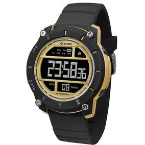 42b0bfb2119 Relogio X Games Dourado Digital - Relógio X-Games Masculino no ...