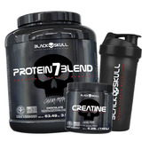 Protein 7 Blend Caveira Preta 1.8kg + Creatina Black Skull