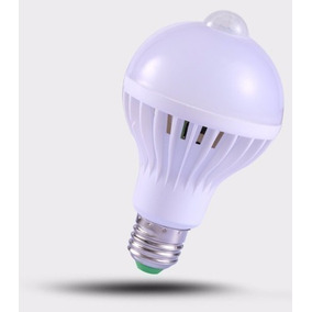 Kit Com 05 Lampadas De Led 7w 220v Com Sensor De Presenca