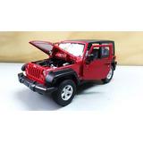 Jeep Wrangler Rubicom Cabinado Color Rojo Escala 1:24