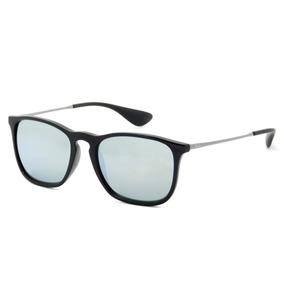 Óculos Sol Ray-ban Rb4187 Chris Original Preto Espelhado c23bb07687