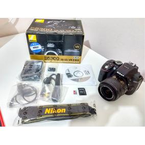 Câmera Nikon D5300 Full Hd + Lente 18-55mm 24.2 Mp + 32gb