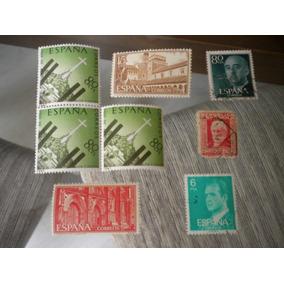 Lote Com 8 Selos Antigos Espanha