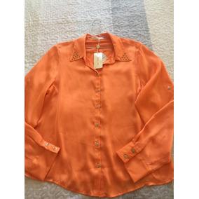 Morena Rosa Original Camisa Seda C/aplicação