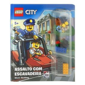 Livro Infantil - Lego City - Assalto Com Escavadeira - Happy