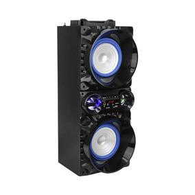 Bocina Portatil Bluetooth 2x5p Green Leaf Sd Usb Recargable