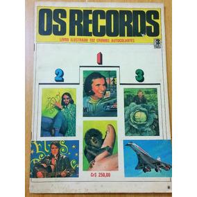 Álbum Os Records - Editora Três 1984 Semi-completo