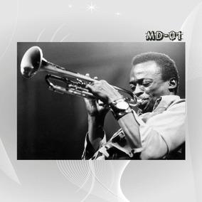 Poster Cartaz Bandas Jazz Música Sbm Cinema Miles Davis Deco