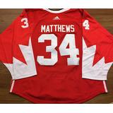 Camisa Toronto Maple Leafs Auston Matthews  34 Vermelha c84292cf3b7c6