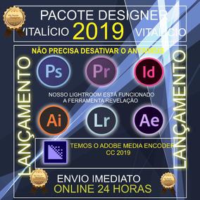 Pacote Adobe 2019 Photoshop/illustrator/premier/after Effect