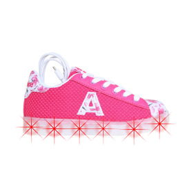 Zapatillas Addnice Led Usb Flores Junior Cordon Niña Fu/bl