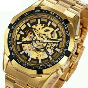 0278a6efed5 Relógio De Luxo Dourado Com Máquina Mecânica - Relógios De Pulso no ...