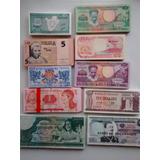 Billetes De Coleccion 10 Diferentes Extranjeros Unc. Nuevos