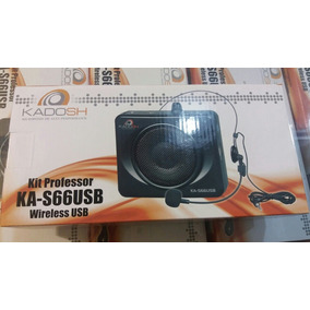 Amplificador Voz Kadosh Ka66usb Kit Professor Tsi Qualidade