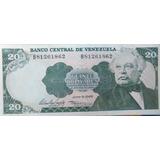 Billete Venezolano 20 Bolivares Jun 5 1995 Serie B C D E