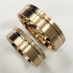 Maya - Aliança De Ouro18k Casamento E Noivado Alian 18k b3f5da6118008