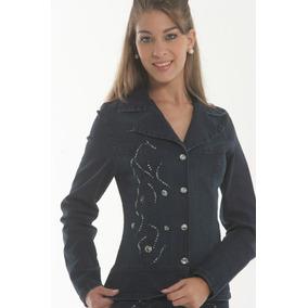 5035ce98b8 Jaqueta Casaco Blazer Jeans Bordada Elastano La Sève 2310