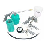 Kit 5 Peças Pistola Pintura Acessórios Compressor Motomil