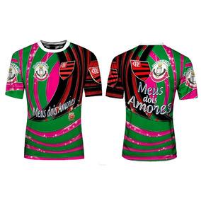 536f9246f5 Camisa Metade Mangueira Metade Flamengo - Camisetas no Mercado Livre ...