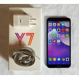 Huawei Y7 2018, Ldn-lx3, Azul, Como Nuevo, En Caja, Liberado