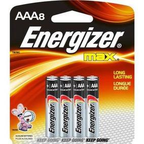 Bateria Energizer Aaa X 8 Unidades Original 10 Años De Vida
