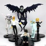 Set 6 Figuras Death Note - Light L Kira Misa Ryuk Rem Near