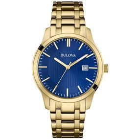 Relógio Social Masculino Bulova Dourado Wb22444z