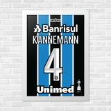 Quadro Camisa A3 Grêmio Libertadores 2017 Kannemann c0cdd40997049