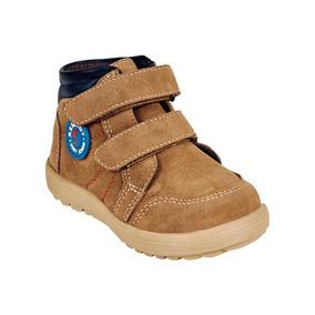 Calzado Bebe Niño Zapato Botin Tipo Gamuza En Arena Comodo