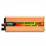 Inversor De Voltaje Para Auto 2000w Dc12v A 220vac Ev9333
