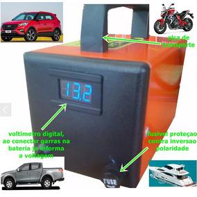 Carregador De Bateria 12v Com Voltimetro Moto Carro Barco