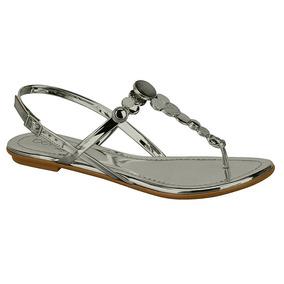 c511c7c327 Rasteira Beira Rio Metal Grafite Glamour Sapatilhas - Sapatos no ...