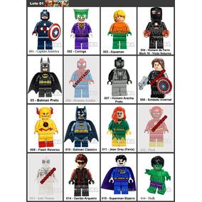 Bonecos Super Herois Vingadores Marvel Liga Compativel Promo
