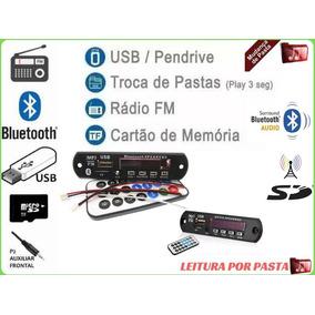 Placa P/ Amplificador - Modulo Usb Caixa Ativa Mp3 Fm Aux Bt