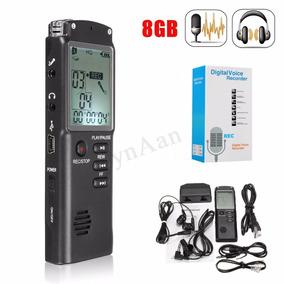 Mini Gravador Digital E Mp3 Player Recarregável 8gb 48hs