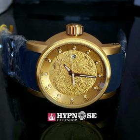 6efcd39a101 Relógio Invicta Dragon Yakuzá 18215 Dourado Azul Original - Relógios ...
