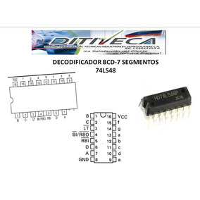 74ls48 Decodificador Bcd Para Display De Segmentos