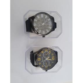 02 Relógio Masculino Quartz + Caixa