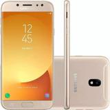 Smartphone Samsung J7 Duos Sm-j720 Dourado 16gb De Vitrine