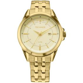 e0c3a81a55b Relógio Technos Masculino Executive Dourado 2115kzc 4x 5 Atm
