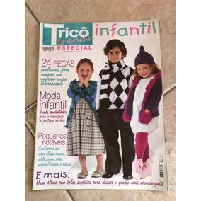 Revista Tricô Trends Especial Infantil 5 Blusas Gorros Touca 7df3aa7c929