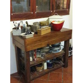 Mesa De Cocina De Madera Rustica - Todo para Cocina, Usado en ...