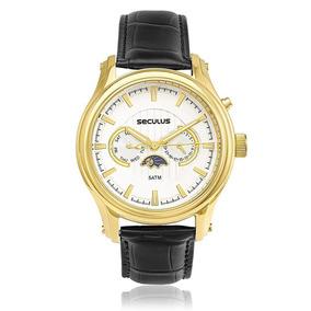 Relógio Masculino Seculus Analógico 23514gpsvdc1 Preto