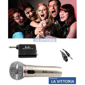 Microfono Inalambrico Multiuso Para Karaoke Adaptador