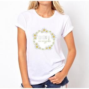Camisa Camiseta T-shirt Eu Confio Nas Margaridas 3082c75e2e767