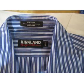 Camisa Kirkland Slim Fit Social Original 16 32