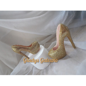 Zapato Mujer Plataforma Porcelana Fria ( Adorno De Torta)
