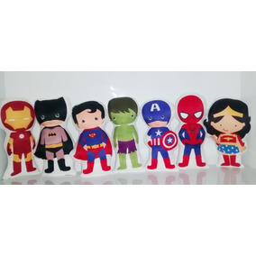 15 Almofada Personalizada Lembrancinha Heroi Vingadores 30cm